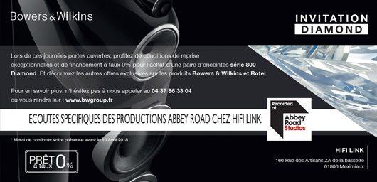 Diamond days b w 2018 et ecoutes abbey road studios hifi for Abbey road salon