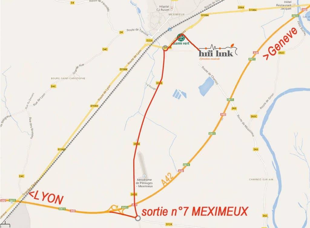 itineraire Hifi Link depuis Lyon et Geneve