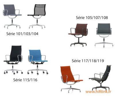 charles eames aluminium chairs series