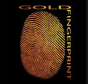 gold fingerprint logo award