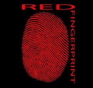 red fingerprint logo award