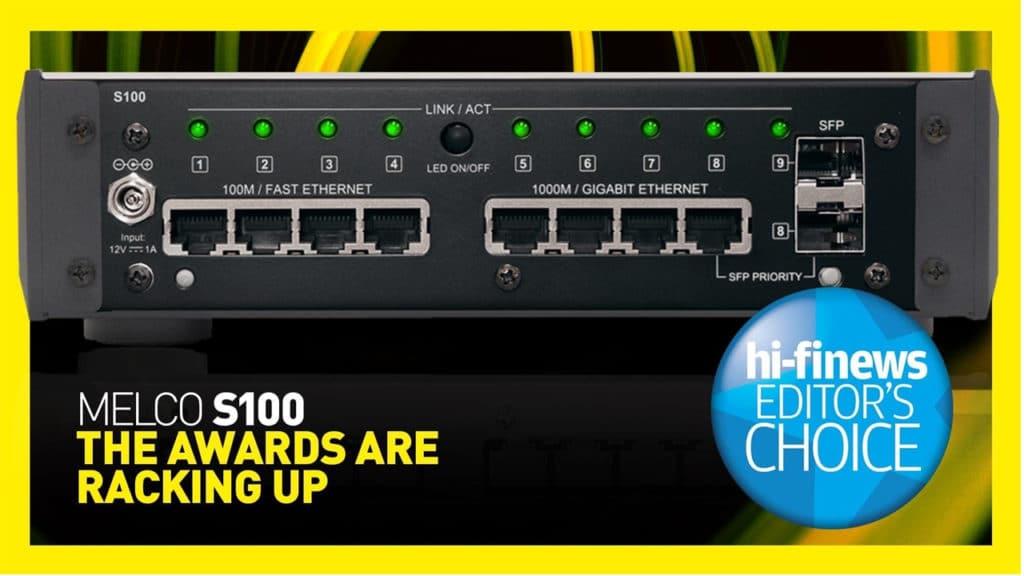 melco S100 hifi news award