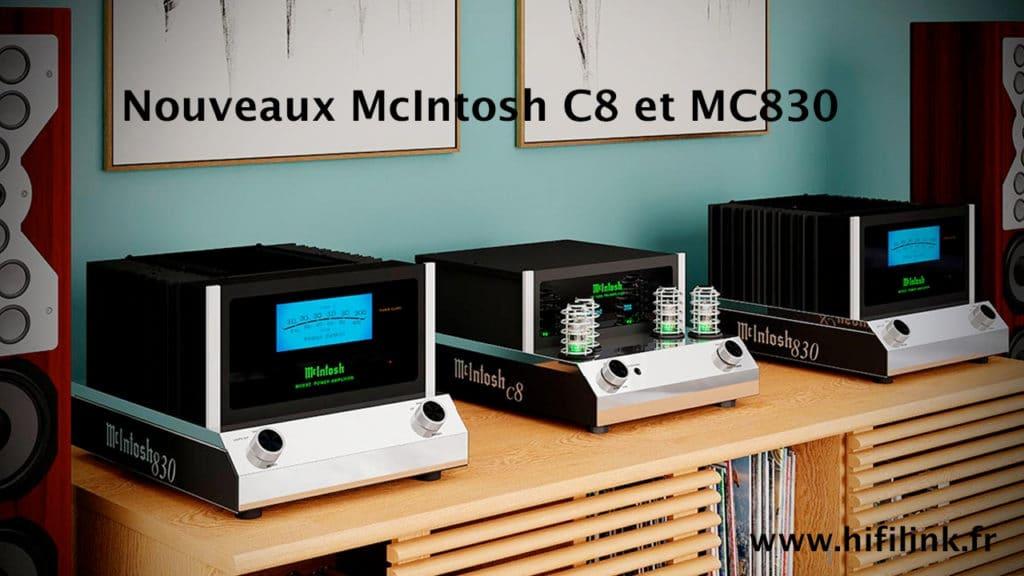 nouveaux mcintosh C8 et MC830
