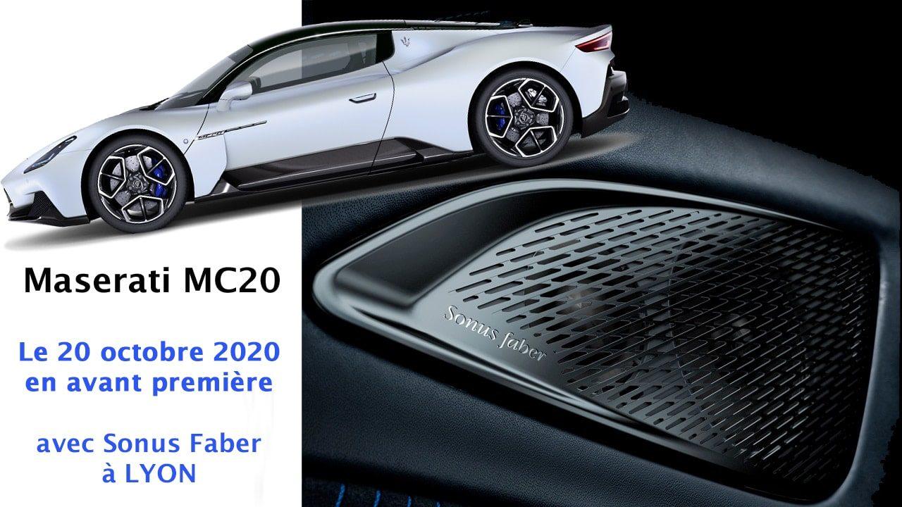 MC20 maserati LYON le 20 octobre 2020