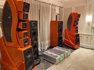 Wilson Audio Wamm orange installation