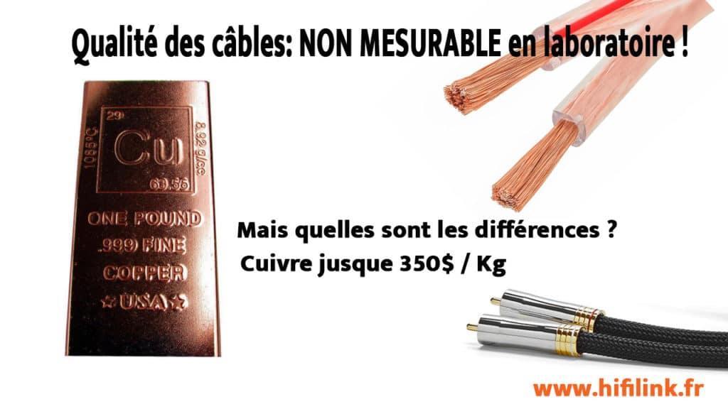 qualite et differences entre cables audio