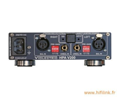 violectric hpa v200 connectiques