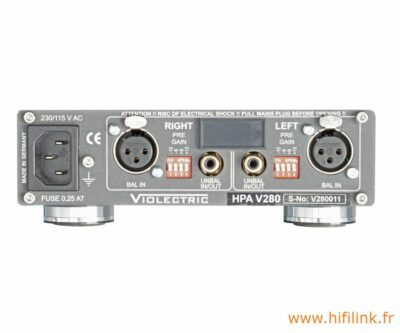 violectric hpa v280 connectiques