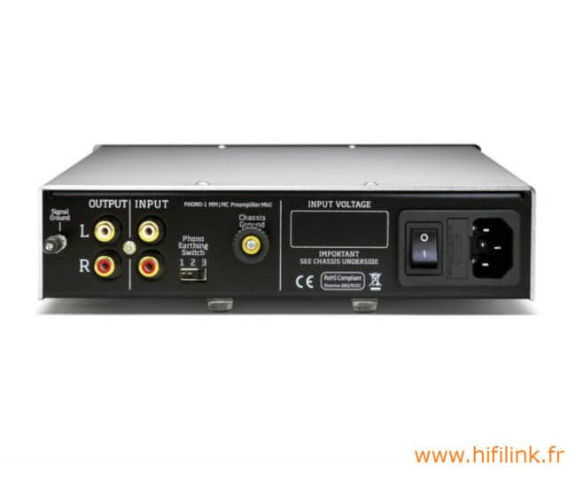 vertere phono-1 MkII connectiques