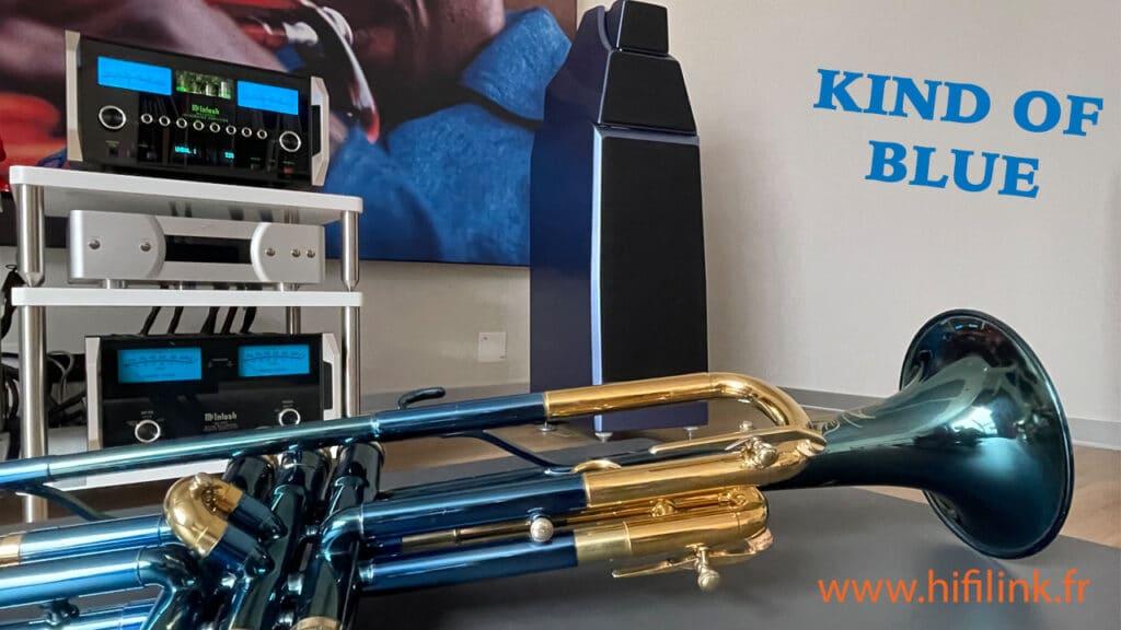 kind of blue trumpet Miles Davis on Wilson Audio