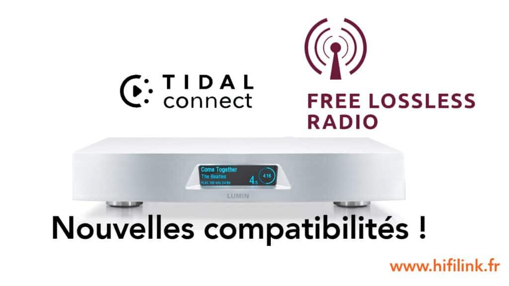lumin flac radio et tidal connect